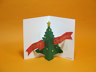 Pop-Up Christmas Card Crafts : クリスマスカード印刷無料 : カード